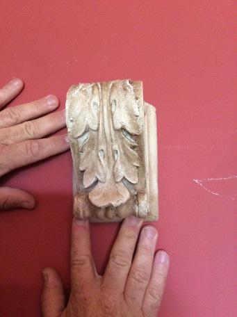 2 x Vintage 'Roman' Plaster Heads - €30 each 1 Vintage Vine Plaster Corbel - €20